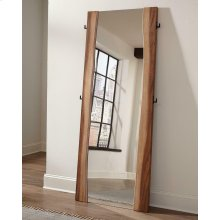 Rustic Smoky Walnut Floor Mirror