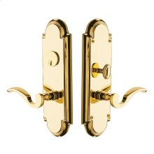 Lifetime Polished Brass Stanford Escutcheon Entrance Set