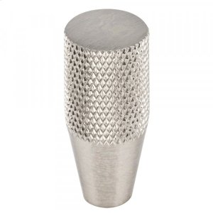 Beliza Conical Knurled Knob 1/2 Inch Brushed Satin Nickel Product Image