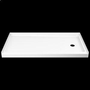 """White ProCrylic 60"""" x 32"""" Shower Base Right Drain Product Image"""