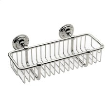 "Polished Chrome 10"" Toiletry Basket"