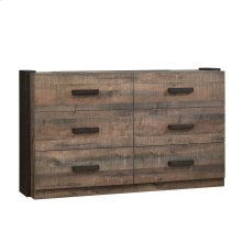 Weston Weathered Oak and Rustic Coffee Dresser