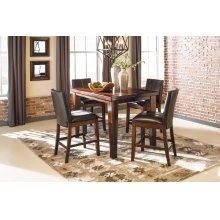 Larchmont - Burnished Dark Brown 5 Piece Dining Room Set