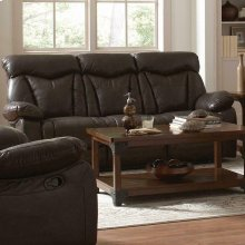 Zimmerman Dark Brown Power Motion Faux Leather Reclining Sofa