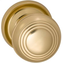 Interior Traditional Knob Latchset in (US3A Polished Brass, Unlacquered)