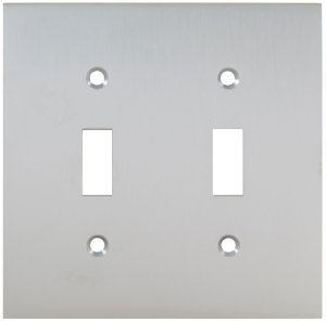 Double Modern Switchplate in (US26D Satin Chrome Plated) Product Image