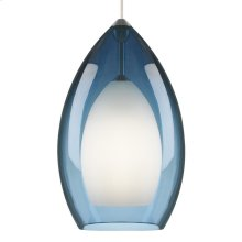 Steel Blue Fire Grande Pendant