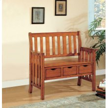 Traditional Warm Brown Bench