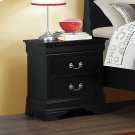 Louis Philippe Black Two-drawer Nightstand Product Image