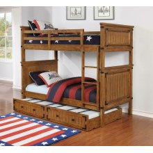 Coronado Rustic Honey Twin-over-twin Bunk Bed