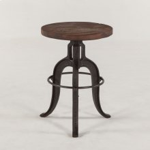 Industrial Teak Stool 16""