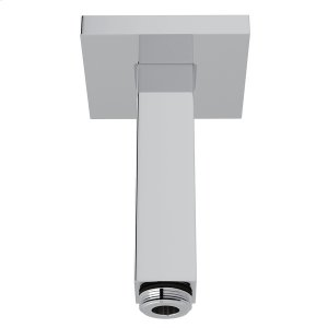 """Polished Chrome 3"""" Modern Square Ceiling Mount Shower Arm Product Image"""