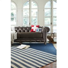 Hampton Denim Stripe Flat Woven Rugs