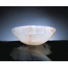 Polished Beveled Rim Sink White Onyx