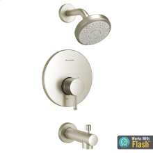 Serin Water-Saving Bathtub and Shower Fittings with Pressure Balance Cartridge  American Standard - Brushed Nickel
