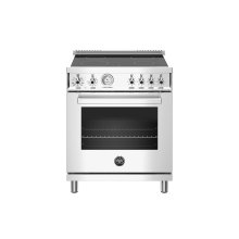 30 inch Electric Range, 4 Heating Zones, Electric Oven Stainless Steel