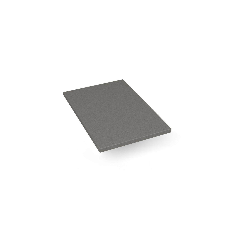 """Engineered Stone 13"""" X 19"""" X 3/4"""" Quartz Dry Vanity Top In Stone Gray"""