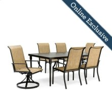 Addyson 7pc Sling Dining Set