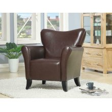 Casual Brown Accent Chair