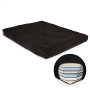 8-Inch Futon Mattress with Multi-Layer Cotton and Foam Core, Black Product Image