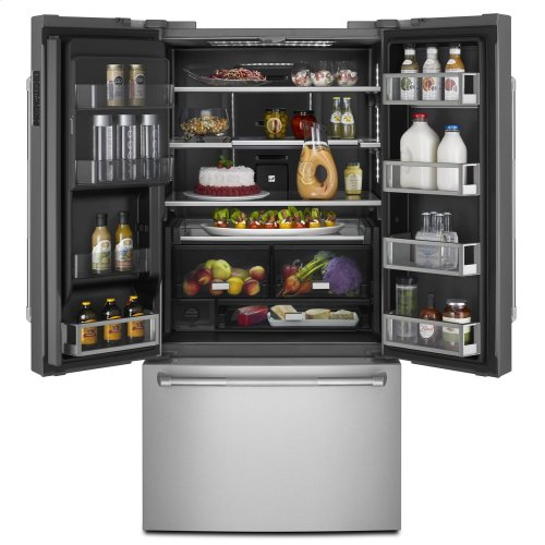 """Pro-Style® 72"""" Counter-Depth French Door Refrigerator with Obsidian Interior Pro Style Stainless"""