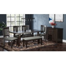 American Rustics Dining With Four Chairs
