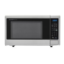 1.4 cu. ft. 1000W Sharp Stainless Steel Carousel Countertop Microwave Oven