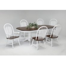 Double Pedestal Butterfly Leaf Table