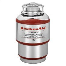 1-Horsepower Continuous Feed Food Waste Disposer Red