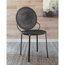 Contemporary Black Iron Accent Chair