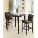 Contemporary Cappuccino Bar-height Stool Product Image