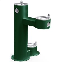 Elkay Outdoor Fountain Bi-Level Pedestal with Pet Station, Non-Filtered Non-Refrigerated Evergreen