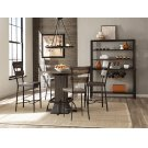 Jennings 5 Piece Round Counter Height Dining Set With Non-swivel Counter Stools - Distressed Walnut Product Image