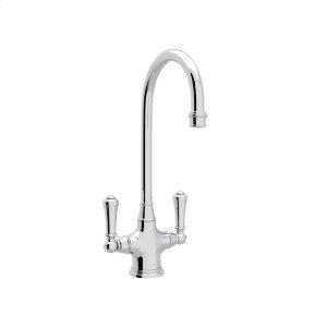 Polished Chrome Perrin & Rowe Georgian Era Single Hole Bar/Food Prep Faucet with Traditional Metal Lever Product Image