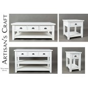 Artisan's Craft Cocktail Table - Weathered White