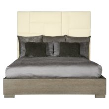 California King-Sized Mosaic Upholstered Bed