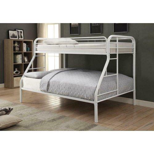Morgan White Twin Full Bunk Bed