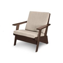 Mahogany & Cast Ash Riviera Modern Lounge Chair