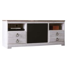 Willowton - Whitewash 2 Piece Entertainment Set