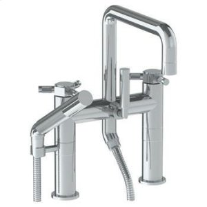 Deck Mounted Square Exposed Bath Set With Hand Shower Product Image