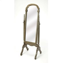 This elegant cheval mirror adds an often-overlooked decorative touch to a room. Featuring a swivel-tilt design, this full-length mirror can easily be set to a desired angle by adjusting the antique brass finished thumb screws on either side. Crafted from