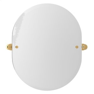 """English Gold Perrin & Rowe Wall Mount 24 7/16"""" Oval Mirror Product Image"""