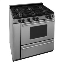36 in. ProSeries Freestanding Battery Spark Sealed Burner Gas Range in Stainless Steel