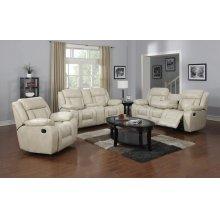 Hudson White Sofa, Loveseat and Recliner