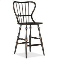 Dining Room Ciao Bella Spindle Back Bar Stool-Black Product Image