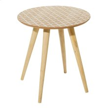 """WD ACCENT TABLE 19""""W, 19""""H"""