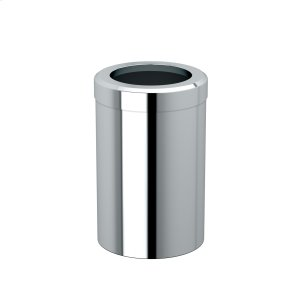 Round Modern Waste Basket in Chrome Product Image