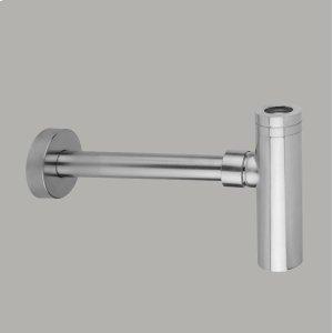 Round Lavatory Trap Brushed Nickel Product Image