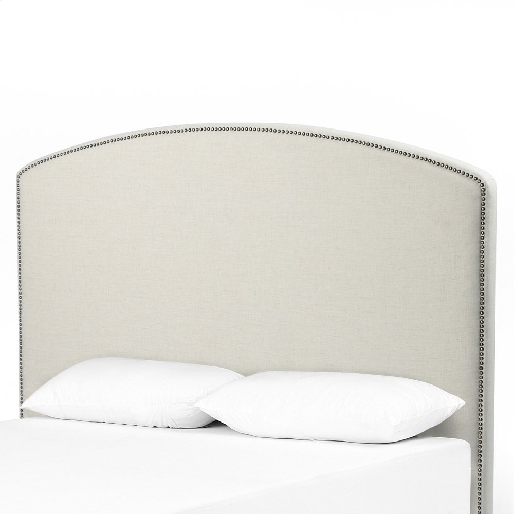 Queen Size Savile Flax Cover Surry Curved Headboard