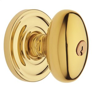 Lifetime Polished Brass 5225 Egg Knob Product Image